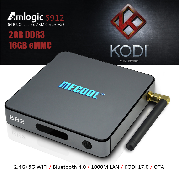 MECOOL BB2 android 6.0 octa core CPU bt 4.0 tv top <strong>box</strong> with aml s912