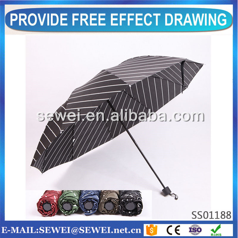 custom printed umbrella 3 folding automatic with good after service