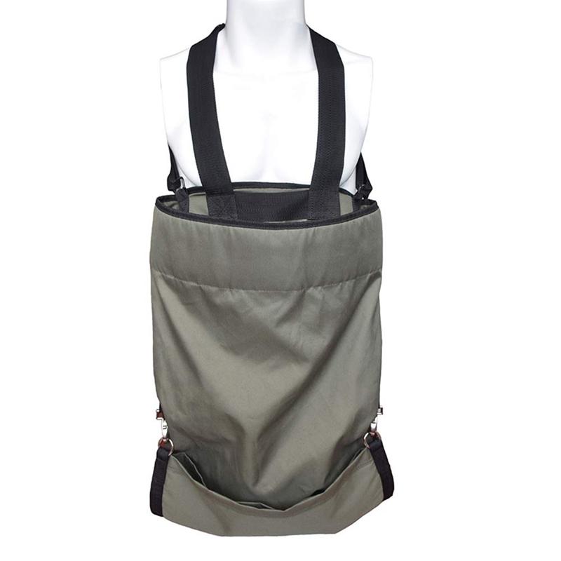 Heavy Duty Waterproof Adjustable for Gardener Harvest Vegetable Fruit Picking Bag Garden Apron with Large Deep Pocket, Grey green
