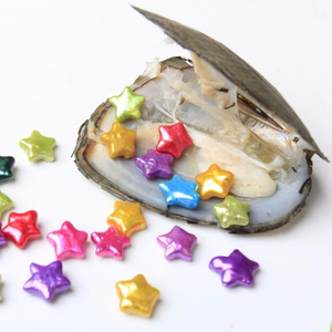 New Arrival 10-11mm Star Edison Freshwater Pearl with Beautiful Colors in Freshwater Oyster For Party