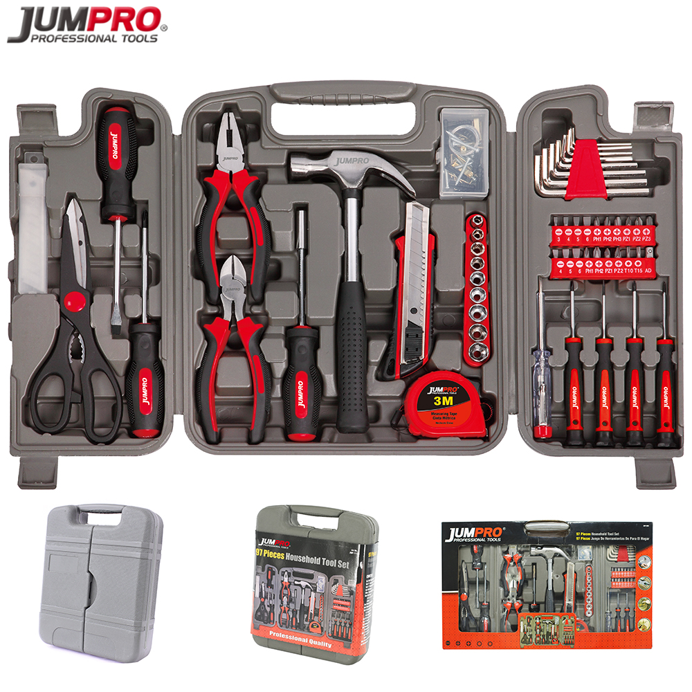 97pc High Quality General Hand Tool Kit Electrical Tool kit with Complete tool box Set