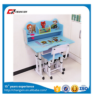 high quality new mordernMost popular colorfull cartoon cartoon school furniture, children desk and chair , school desk and chair