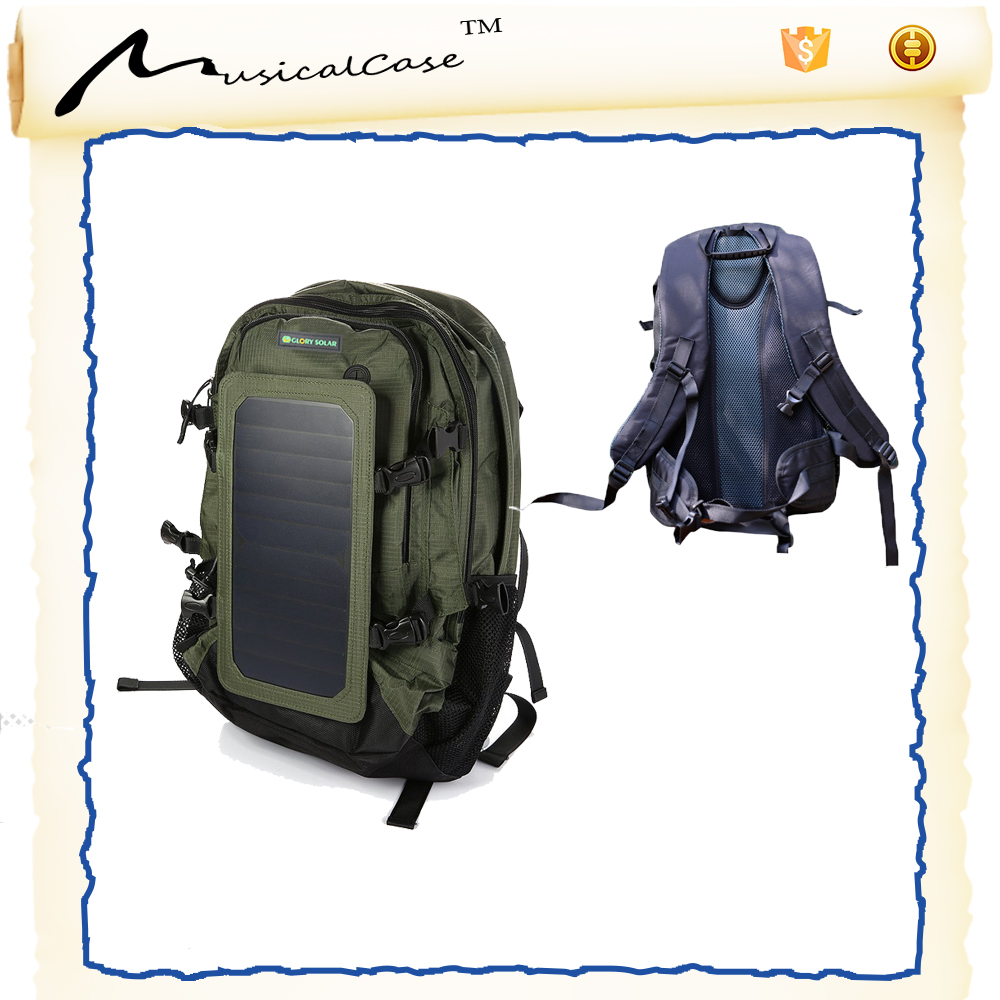 Solar Powered Backpack 10000mAh Power Bank, 2L Hydration Pack bag
