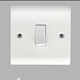 British standard wall switch and socket 1gang 1 way electric switched socket