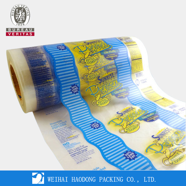 Color Printing Roll Stock Blue Film By China Supplier