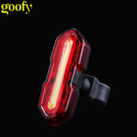 LED COB cree bicycle back lamp USB rechargeable rear lamp waterproof mountain bike accessories tail bicycle light