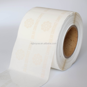 Self adhesive plastic label printing, Custom transparent pvc label sticker roll