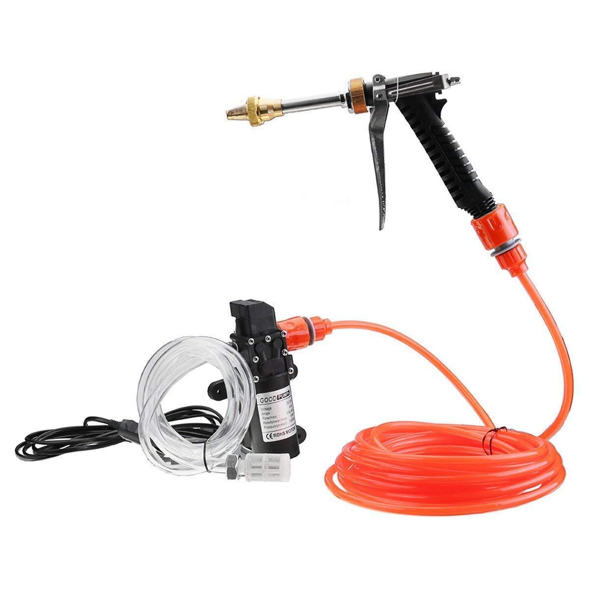 Good Car Clean Water Pump Submersible Portable Pump High Pressure Electric Car Window Washing Machine Water Pipe Gun Dc12v Yellow Tools