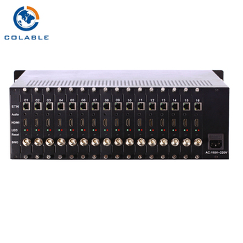 Digitale IPTV headend 16CH H.264 HD/Audio per IP Ethernet Convertitore Encoder COL8116H