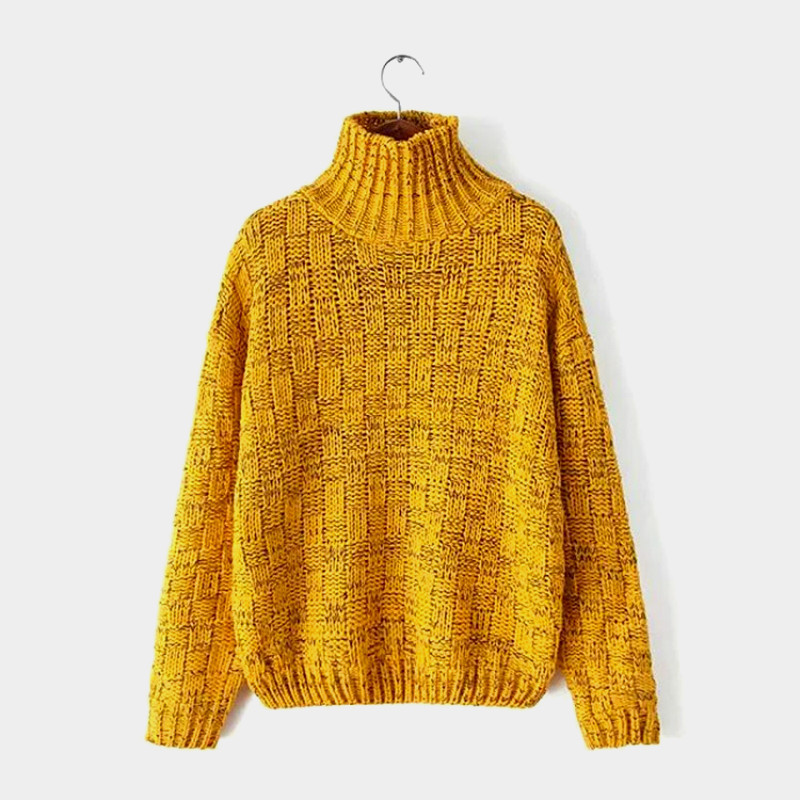 206445dff9 Get Quotations · New Hot Women Winter Crochet Knitted Cashmere Pullovers  Branch Pattern Gradient Color Oversized Turtleneck Sweater Jumper