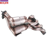 THREE WAY EXHAUST MANIFOLD CATALYTIC CONVERTER WITH FLANGES GASKET DIRECT FIT FOR E90 320i