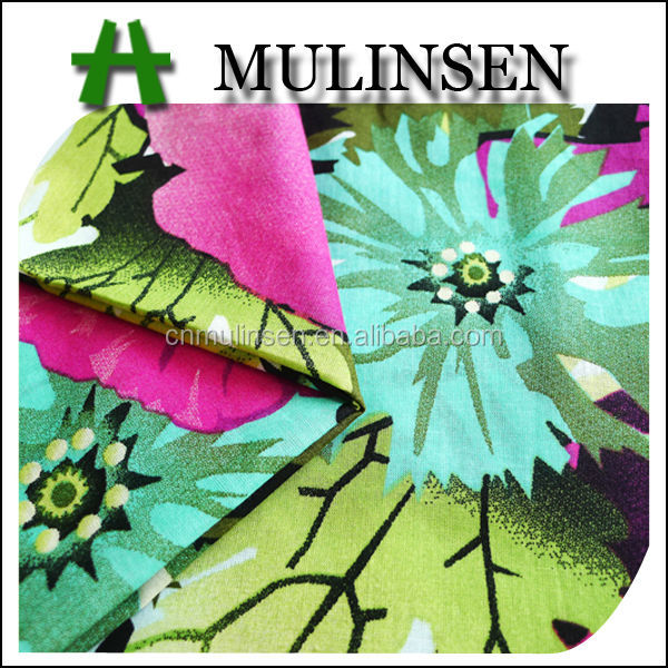 Mulinsen Textile New Arriving Printed Woven Voile Indian 100% Plain Cotton Fabric