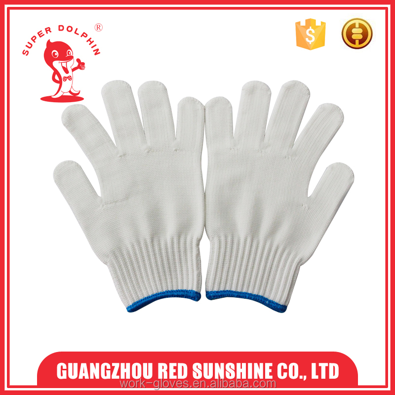 Polyester/Nylon fiber knitted cotton gloves hand gloves 10G machine knitted gloves