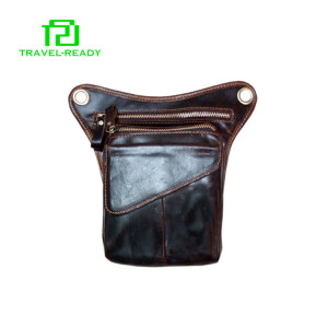 hot sale luxury brands genuine leather walking waist bag fanny pack
