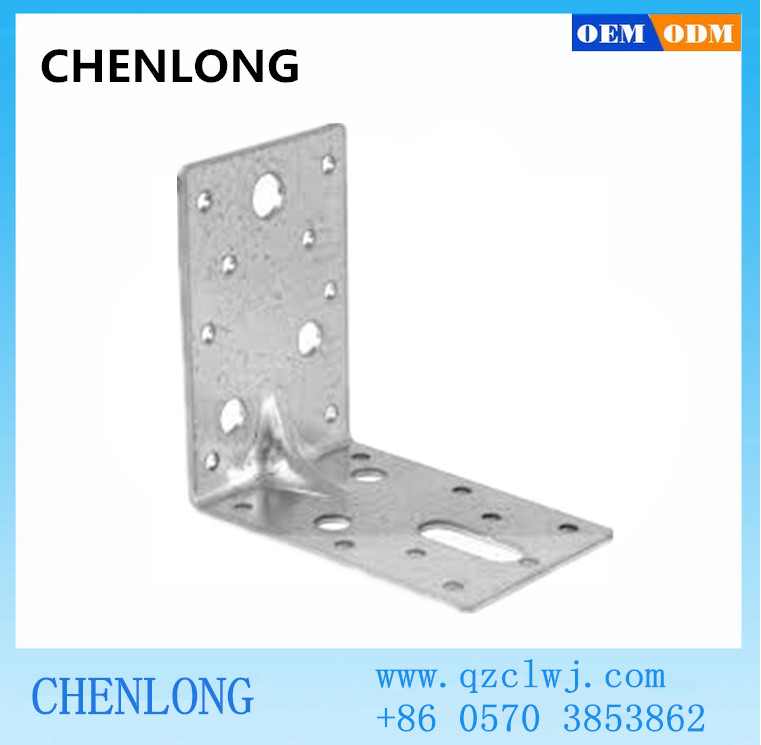 Precision sheet metal fabrication steel angle bracket