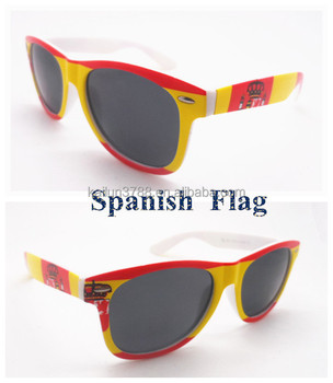 Sunglasses In Spanish  wholes plastic est custom made spanish flag sunglasses