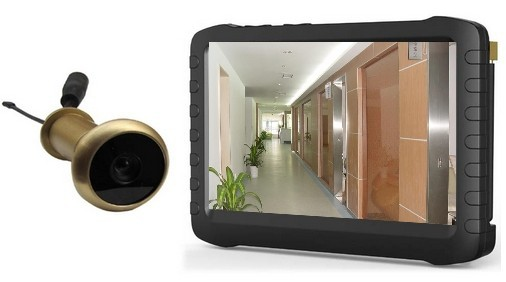 wireless front door cameraWireless Front Door Peephole Camera With 5 Hd Lcd Screen Monitor