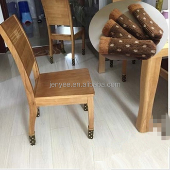 High Quality Custom Logo Double Layer Chair Socks Leg Furniture Pads