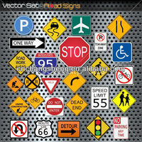 Aluminum Reflective Custom Warning Road Safety Traffic Sign