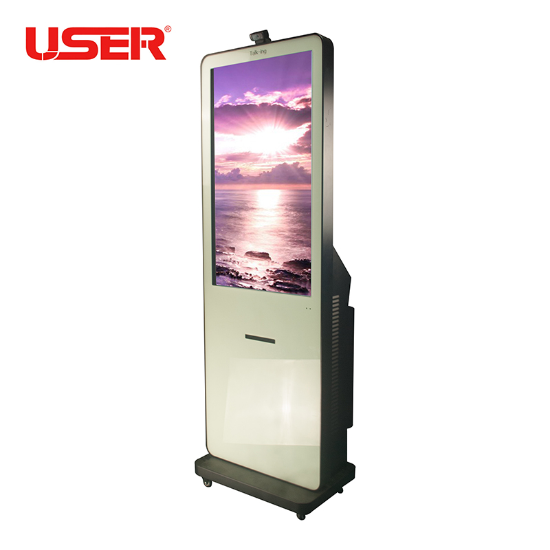 55 inch free standing Digital Touch Screen photo booth For Commercial display