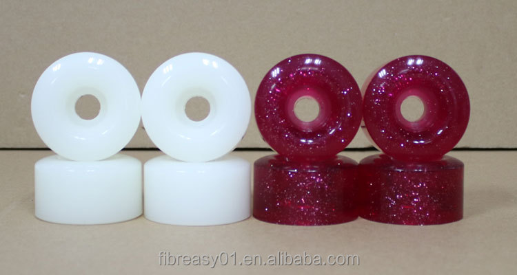 58x33mm skateboard wheels white and fluorescence pink 78A PU skateboard wheels