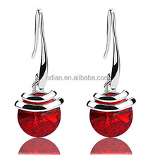 2017 Hot menggantung busana 925 sterling silver teardrop air segar alami nyata jewel earring
