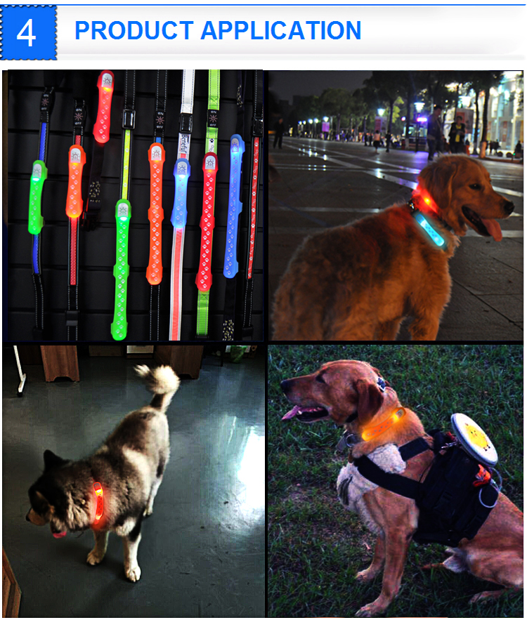 Waterproof Reflective Nylon Led Pet Dog Collar Cover
