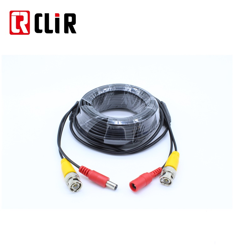 Camera DVR RCA Audio Power DC Jack Adapter RG58 RG59 RG6 Coaxiale Video Connector CCTV BNC Kabel