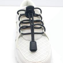 Custom fastening lock system laces , elastic no tie shoelace for sneaker shoes