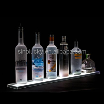 Home Bar Lighting 2 Led Lighted Liquor Bottle Display Shelf Buy