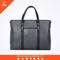 Wholesale high quality fashion leather man business laptop bag