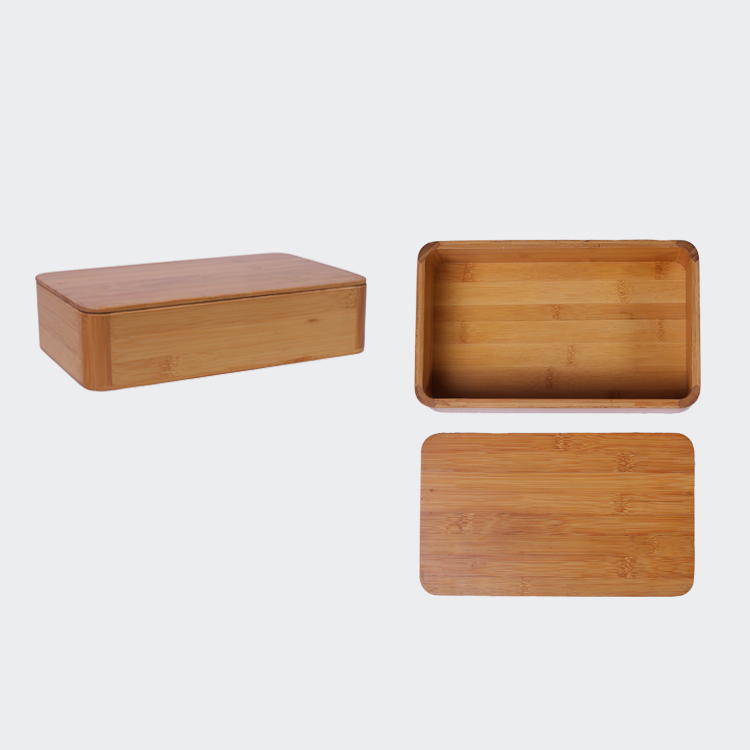 Simple Kitchen Use Bamboo Storage Box