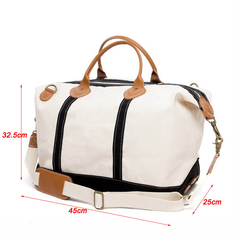 ee7c3c0eb9 Oversized Heavy Duty Canvas Weekender Bag Canvas Duffle Bag Leather Canvas  Bag