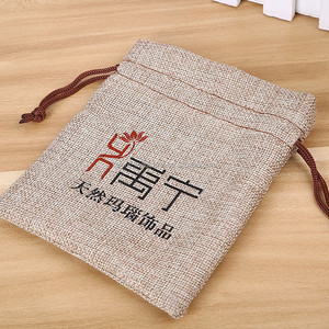 Fashion Customize printed burlap bags used for promotion in festivals&holidays