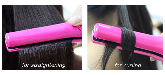Portable 200C Adjustable Rechargeable Battery Cordless Mini Flat Iron