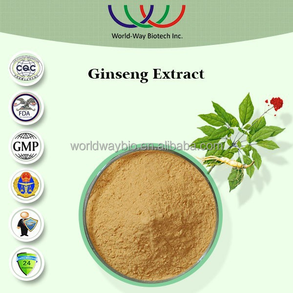 Natural pesticide free Kosher HACCP certified ginseng extract,herb extracts 10% polysaccharides panax ginseng c.a.meyer