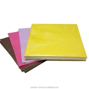 Solid colors printed paper napkins with good quality and competitive price