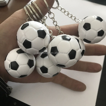 soccer ball keychain with custom logo for promotion