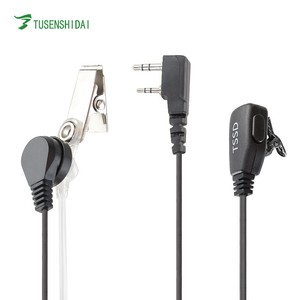 Air Tube Earphone for two way radio TS-E003 two pin K Type 3.5mm walkie talkie Earpiece