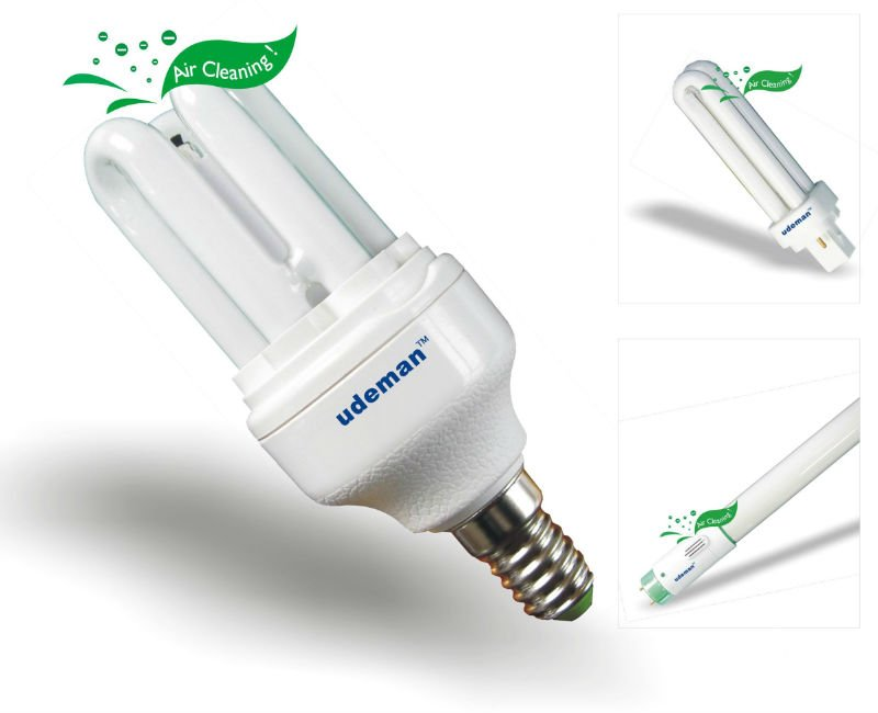 Negative ion energy saving lamps
