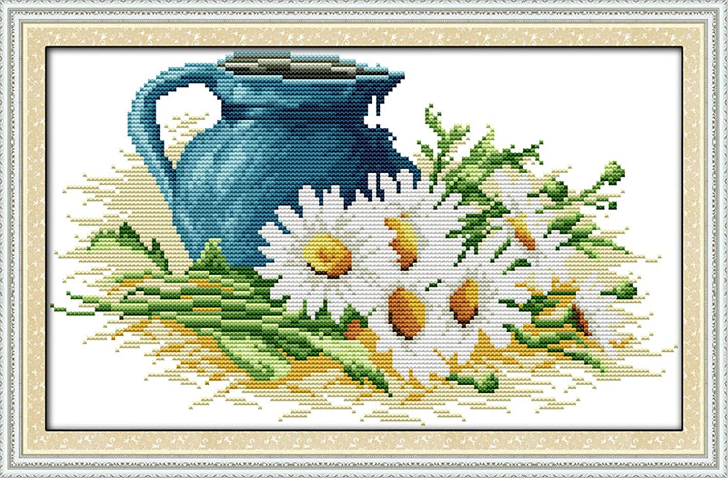 """No Frame eGoodn Cross Stitch Stamped Kit Pre-Printed Pattern The Birds On The Tree 11CT Aida Fabric Size 26/"""" x 9.8 for Embroidery Needlework Art Crafts Lovers"""