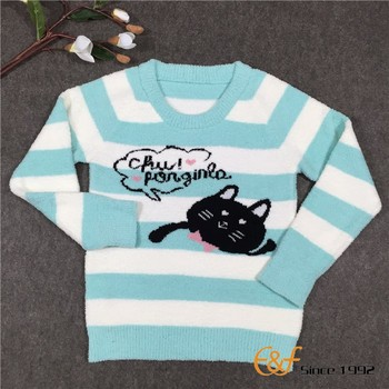 Cat Jacquard Pattern Sweater For Girls Buy Cute Cat Sweater