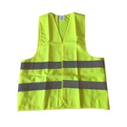 two horizontal stripe chalecos green vest reflective safety clothing
