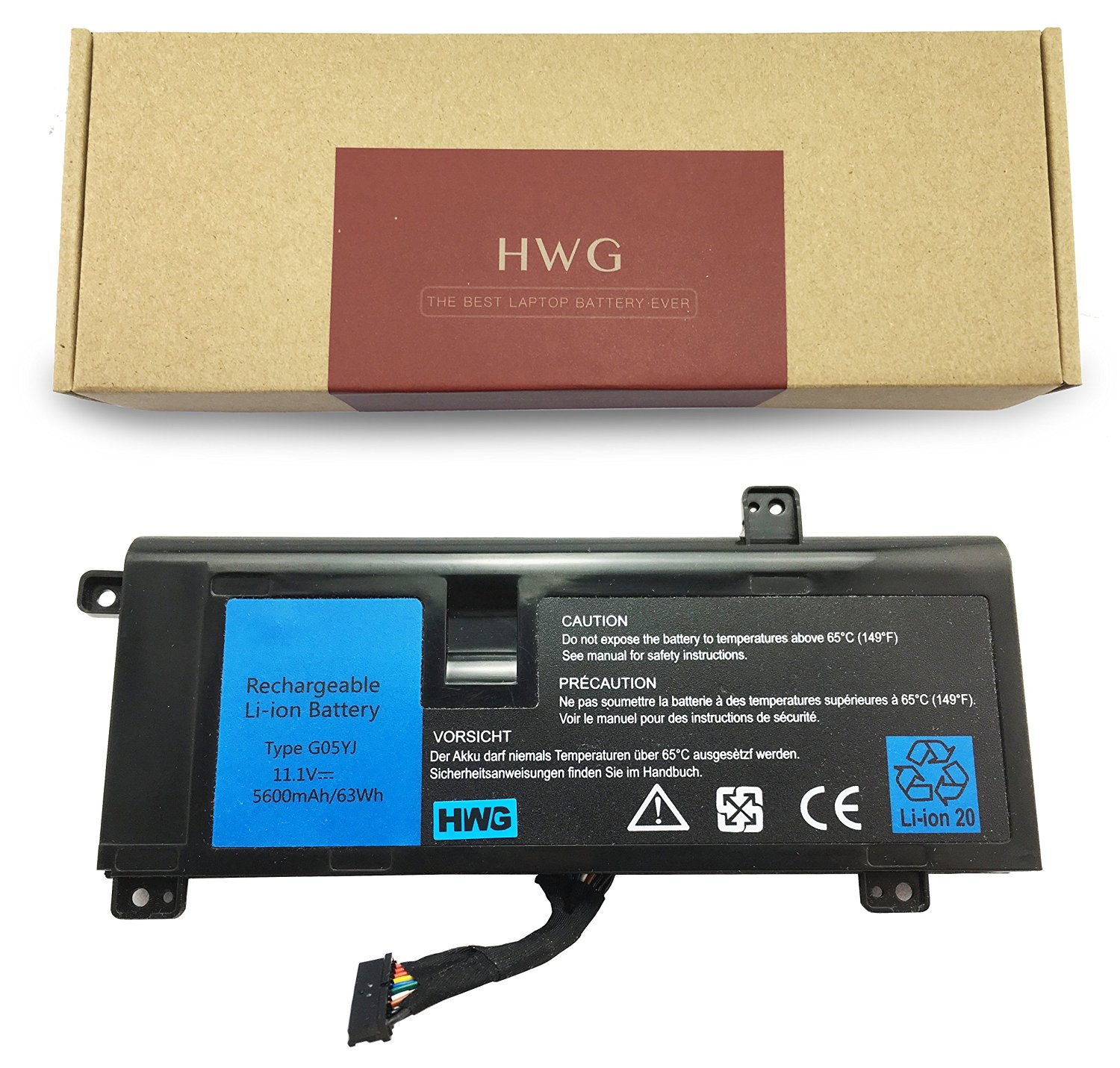 HWG™ Laptop Replacement Battery (G05YJ) For DELL Alienware 14 A14 M14X R3 R4 Series Alienware 14D-1528 Alienware G05YJ 0G05YJ Y3PN0 8X70T
