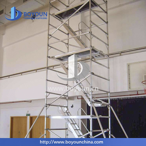 adjustable easy install H frame catwalk mobile scaffolding mechanical jack scaffolding and steel support