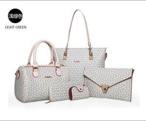 Fashion Lady Handbag Women Bag sets High Quality PU Handbags 6 Pcs in 1 Set 9b709e24043bd