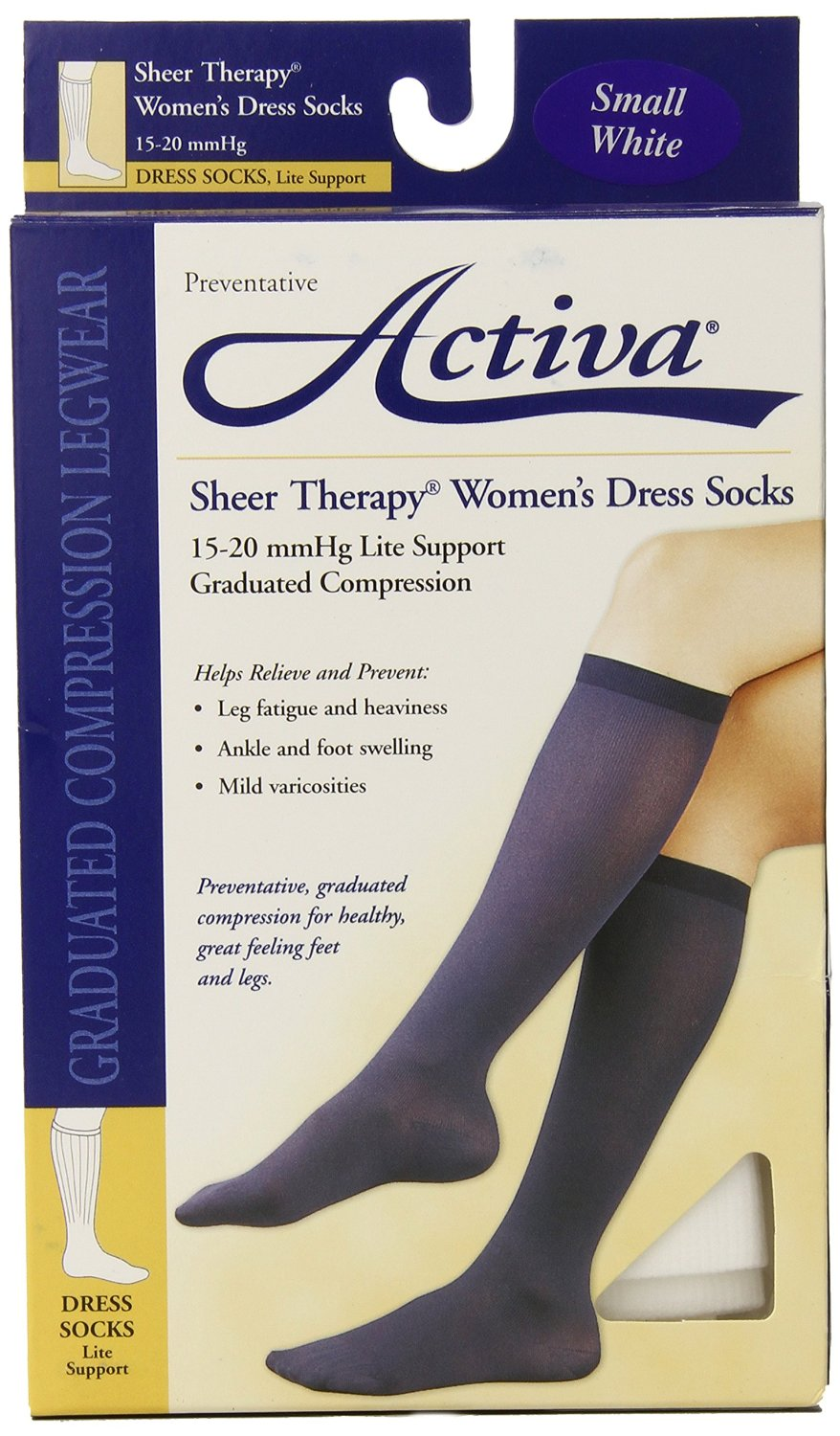 590a8246ba9 Get Quotations · Activa Sheer Therapy 15-20 mmHg Women s Socks