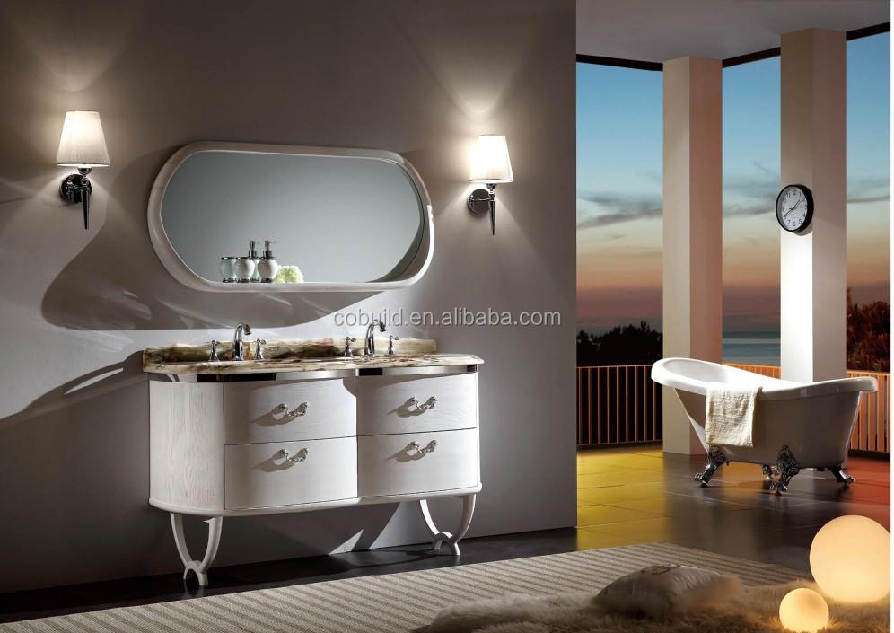 Klassieke italiaanse badkamer ijdelheid europese stijl dubbele