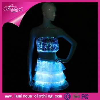 China Suppliers Glow In The Dark Dresses Light Up Prom Dresses