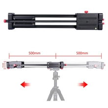 most stable 100cm double sliding video film slider retractable dslr camera dolly